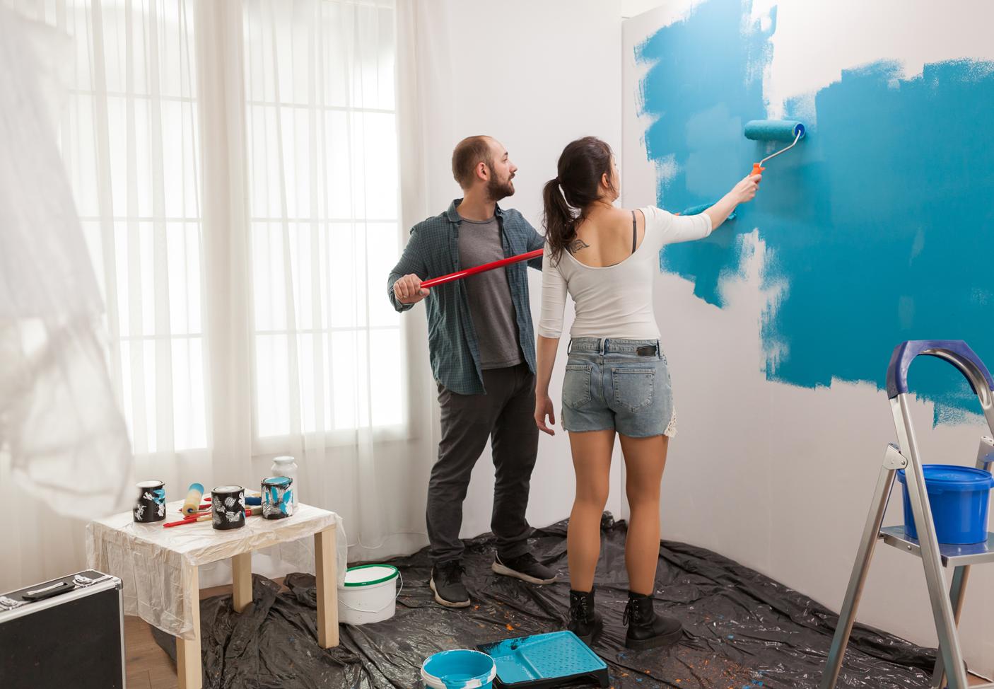 Tipos de tintas, para tipos de pinturas residenciais.